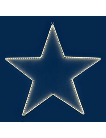 LOTTI Décoration étoile 76 cm - 180 Strip LED - Lumière fixe blanc chaud - Transformateur 12 V