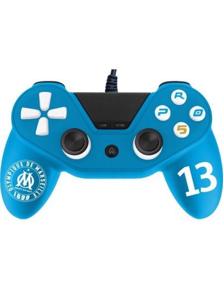 Manette pour PS4 Pro5 controller - Manette pour Playstation 4 Pro 5 - Licence officielle OM - Olympique de Marseille