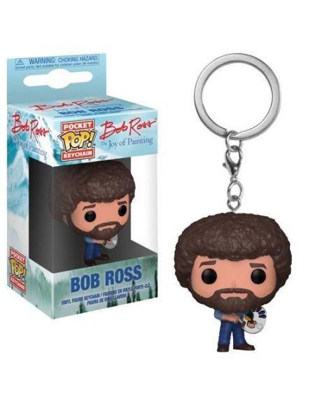 Porte-clé Funko Pocket Pop! The Bob Ross: Bob Ross