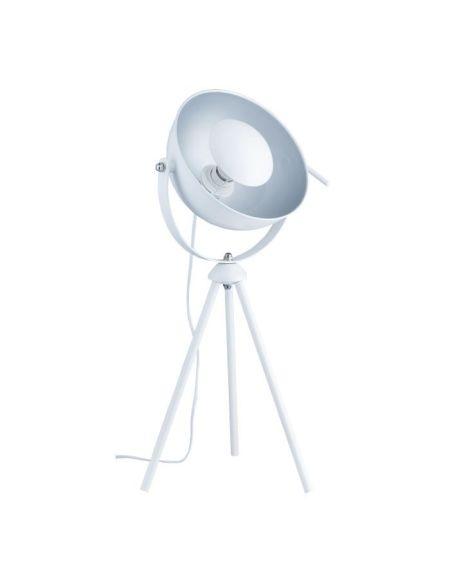 Lampe trépied Cinéma - Ø 29,5 x H 74,5 cm -Blanc et argent