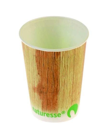 NATURESSE - 5235-12 - 12 Gobelets - Cellulose + PLA - Décor palmier 25 cl