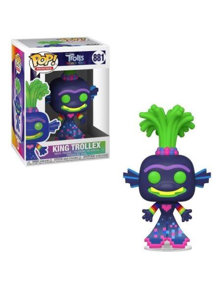 Figurine Funko Pop! Ndeg881 - Trolls World Tour - Trollex Roi