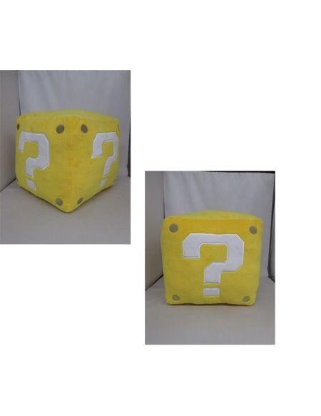 Peluche Nintendo - cube jaune - 25 cm