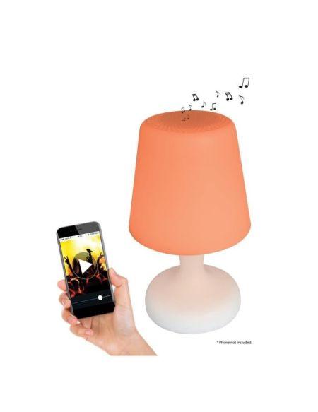 LEXIBOOK Decotech Lampe LED Couleur & Son rechargeable avec enceinte Bluetooth intégrée