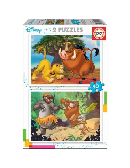 EDUCA PUZZLE 2x20 DISNEY ANIMALS
