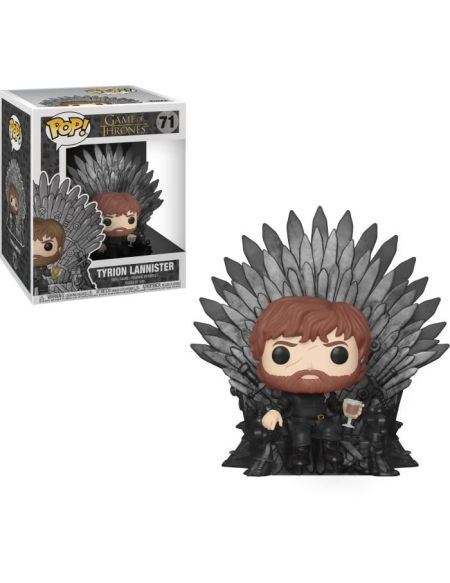 Figurine Funko Pop! Deluxe: Game Of Thrones S10 - Tyrion (Assis sur le trône de Fer)