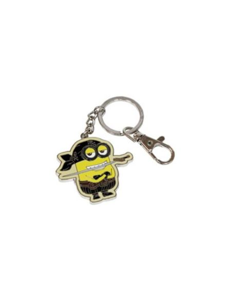 WTT MINIONS Porte clés Eyes Matie 4cm - Métal - Noir et Jaune