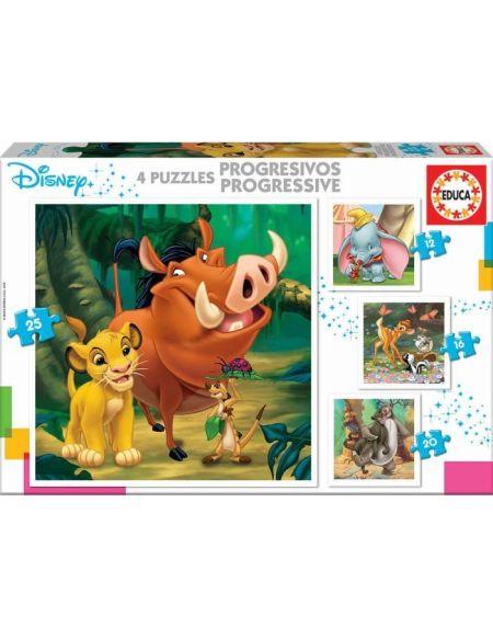 EDUCA - puzzles progressifs Disney Animals