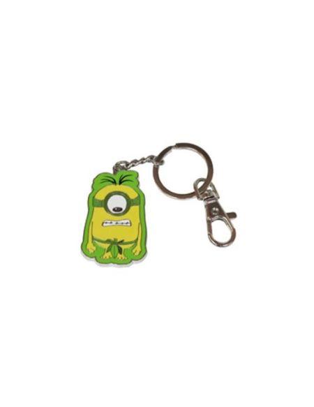 WTT MINIONS Porte clés Au Naturel 4cm - Métal - Vert et Jaune