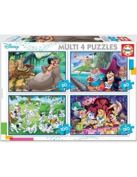 EDUCA - puzzle multi 4 in 1 classiques Disney