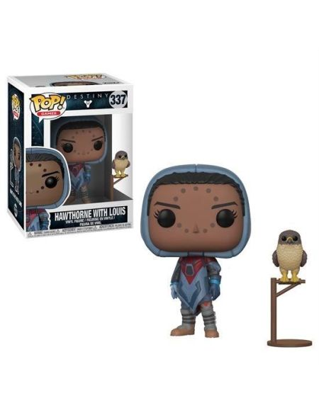Figurine Funko Pop! Destiny : Hawthrone avec faucon