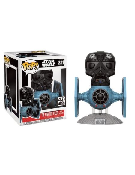 Figurine Toy Pop N°221 - Star Wars - Tie Fighter avec pilote deluxe