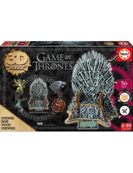EDUCA Game of Thrones Puzzle 3D Trône de Fer