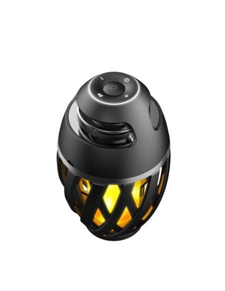 LEXIBOOK Decotech Enceinte Bluetooth Stéréo effet Flamme LED, usage intérieur et extérieur