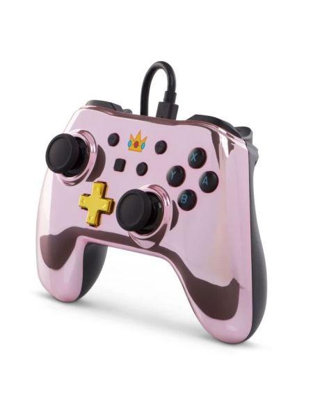 Manettes filaire pour Nintendo switch Chrome rose - Peach