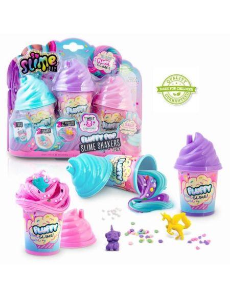 SO DIY So Slime Fluffy - Lot de 3 Slime Shakers Fluffy parfumés - Découvre une nouvelle texture de slime ! - SSC 101 - 6 ans et +