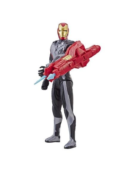 Marvel Avengers Endgame - Figurine Titan Power FX Iron Man et Power Pack - 30 cm - Parle en français