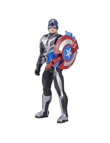 Marvel Avengers Endgame - Figurine Titan Power FX Captain America et Power Pack - 30 cm - Parle en français