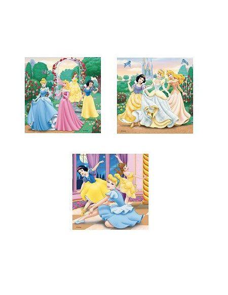 Puzzles Rêverie avec les Princesses Disney - 3 x 49 Pièces
