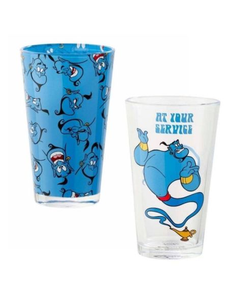 Set de 2 verres Funko Disney : Aladdin - At Your Service