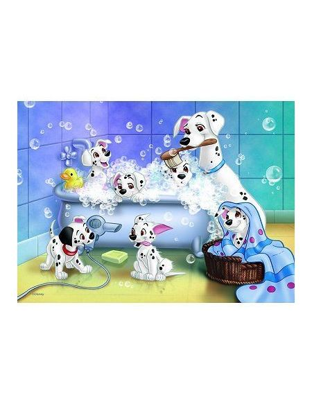 Puzzle 60 pièces Disney 101 Dalmatiens Tous au bain ! avec trieur de pièces NATHAN - 6 ans et +