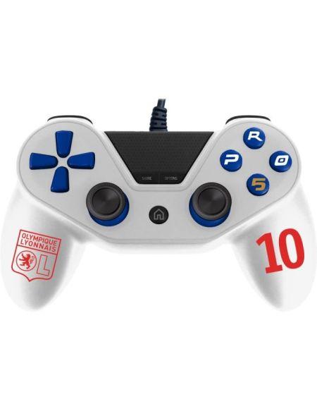 Manette pour PS4 Pro5 controller - Manette pour Playstation 4 Pro 5 - Licence officielle OL - Olympique Lyonnais