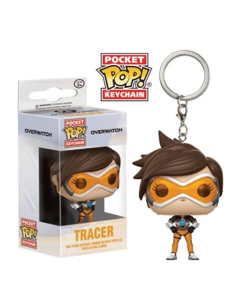 Porte-clés Funko Pocket Pop! Overwatch: Tracer