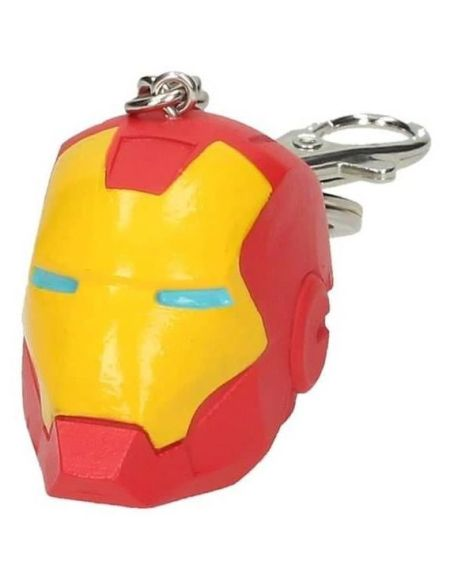 WTT IRON MAN - Marvel Porte clés casque 3D - Rouge et Jaune