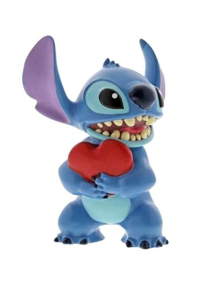Figurine - DISNEY TRADITION - STITCH HEART - Licence Officielle Lilo et Stitch - Enesco