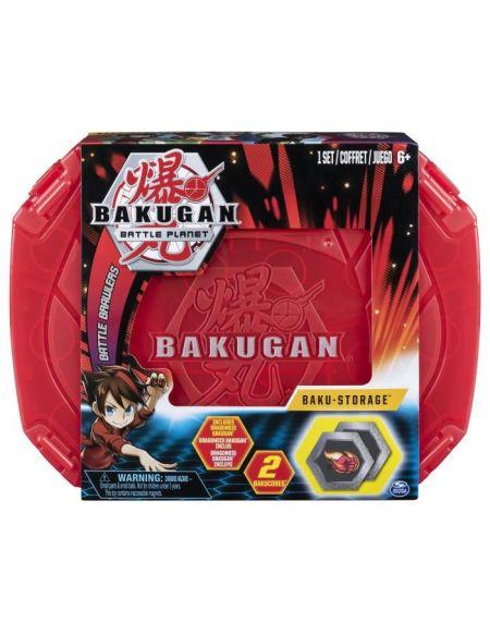 BAKUGAN Valisette de rangement - Modèle aléatoire + 1 Bakugan, 2 cartes hexagonales BakuCore, 1 carte Personnage.