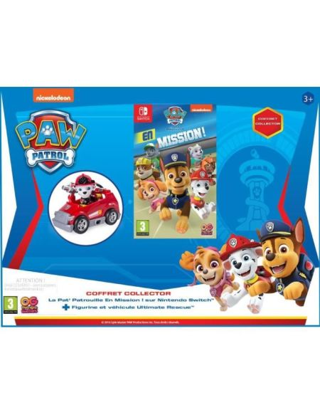 PAW PATROL : EN MISSION - Mini Fire Cart Marshall - Bundle