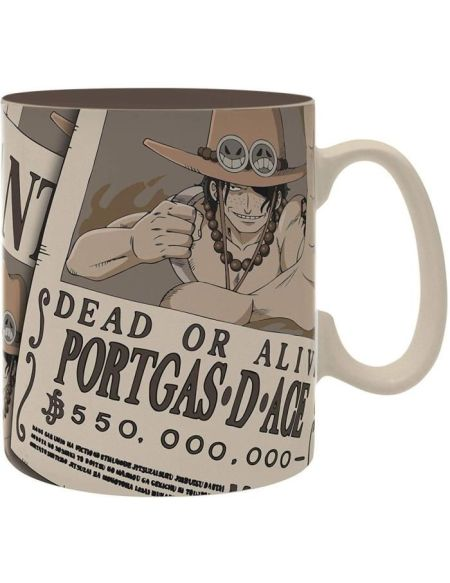 Mug One Piece - 460 ml - Wanted Ace - porcelaine avec boîte - ABYstyle