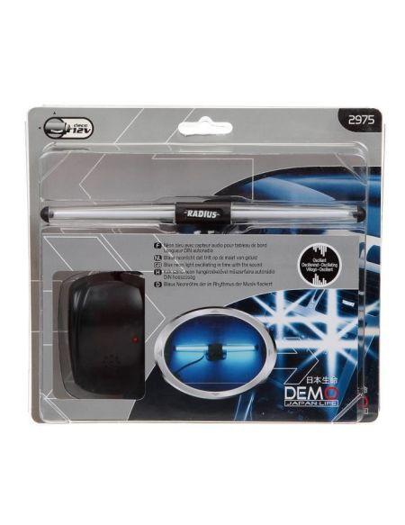 Eclairage décoratif Demon - Néon Bleu - 12v - Avec Capteur audio
