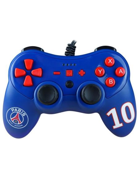 Manette filaire bleue Paris Saint Germain pour Switch