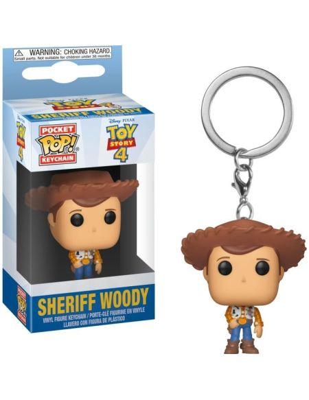 Porte-clés Funko Pocket Pop! Disney : Toy Story 4 - Woody