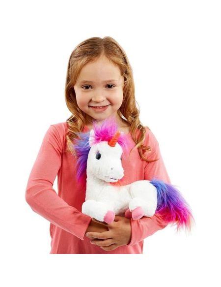 Crayola - Rainbow, ma licorne magique - Peluche à fonction - Sons et Lumières