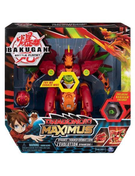 BAKUGAN Dragonoid Maximus + 1 Bakugan exclusif Titan Dragonoid et sa carte Personnage, 2 Bakucore, 1 carte Maîtrise
