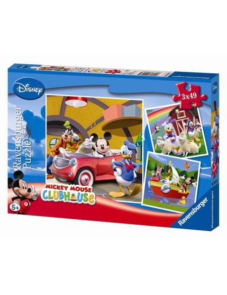 MICKEY MOUSE Puzzle Mickey 3x49 pcs - Disney
