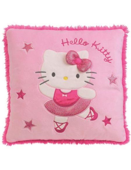 FUN HOUSE Hello Kitty 712257 COUSSIN DANSEUSE EN PELUCHE Hauteur : ± 32 cm