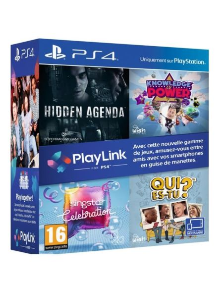 Pack Playlink Qui Es-tu+knowledge Is Power+singstar Celebration+hidden Agenda