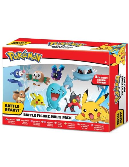 Bandai POKEMON Pack de 8 Figurines - 5 et 8 cm - 80299