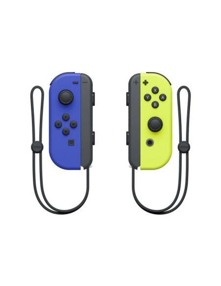 Paire de manettes Joy-Con gauche bleue et droite jaune néon