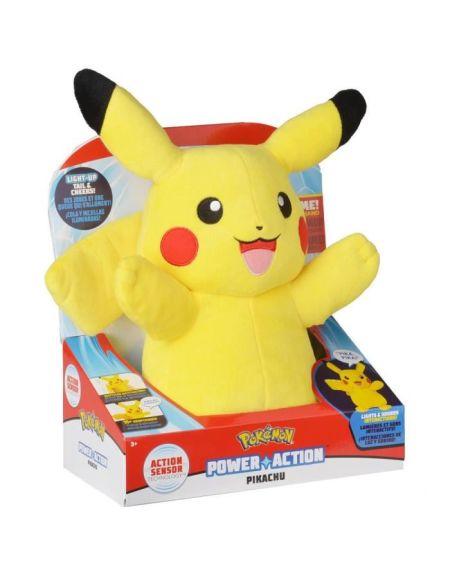 POKEMON Peluche Pikachu son & lumière - 30 cm