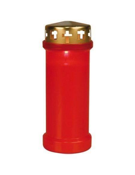 Veilleuse extérieure rouge H: 175 mm