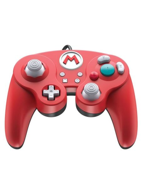 Manette filaire Super Smash Bros : Mario pour Switch