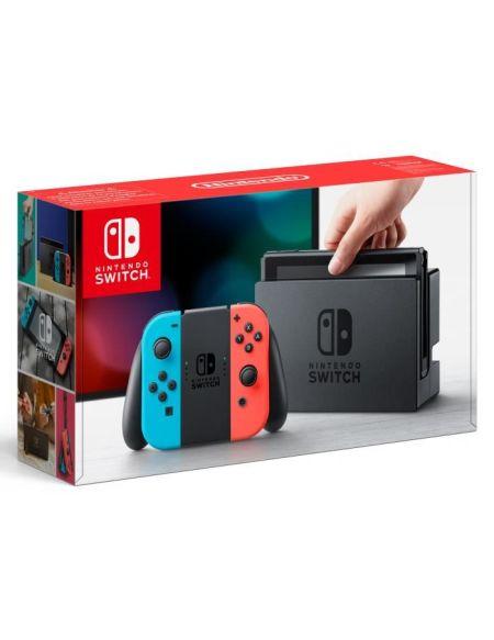 Nintendo Switch + paire de Joy-Con rouge néon et bleu néon