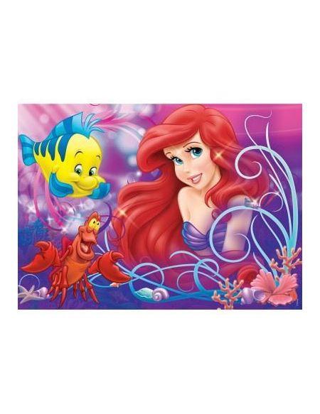 Puzzle 60 pièces Disney Ariel Jolie petite sirène avec trieur de pièces NATHAN - 6 ans et +