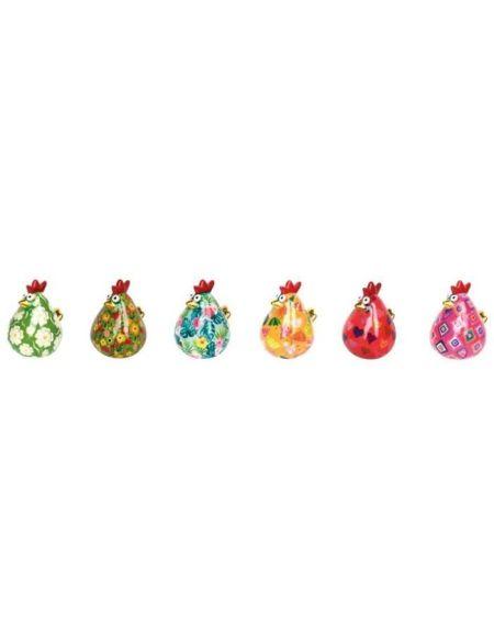 POMME PIDOU - Tirelire poule Matilda assortie