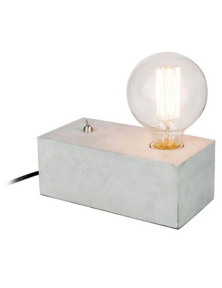 THE HOME DECO LIGHT Lampe à poser rectangle LA12010 - Béton interrupteur M4