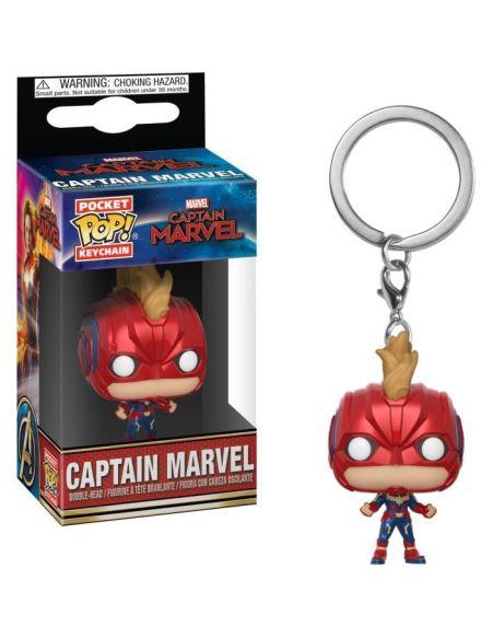 Porte-clés Funko Pocket Pop! Captain Marvel avec masque